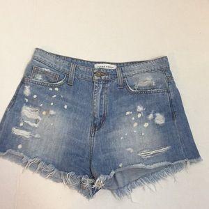 Flying Monkey distressed Splash paint Shorts- 27